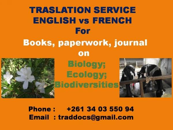 service de traduction de documents  antananarivo